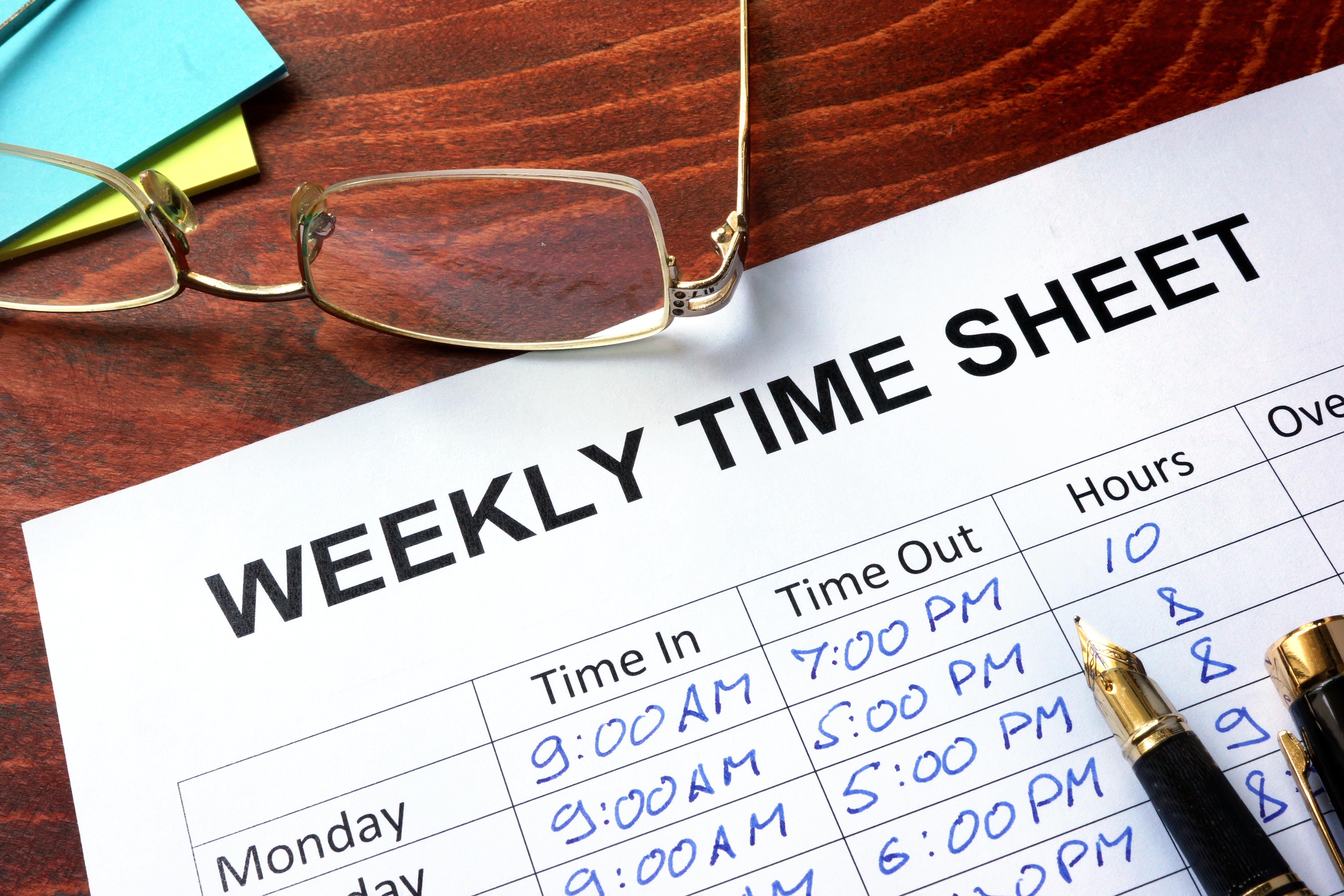 Paper timesheet