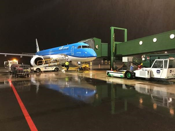 KLM flight at GOT airport